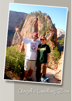 keith and renee at angels landing in zion national park